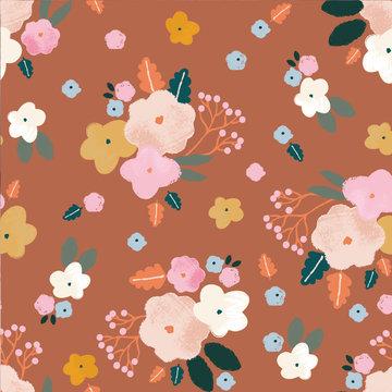 Viscose - Katia bloempje op nude