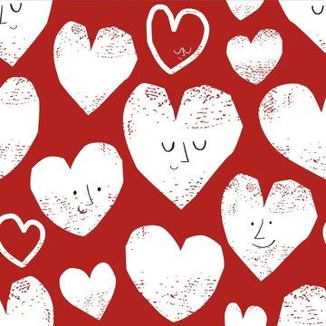 Sweater - Rood met gestempelde harten