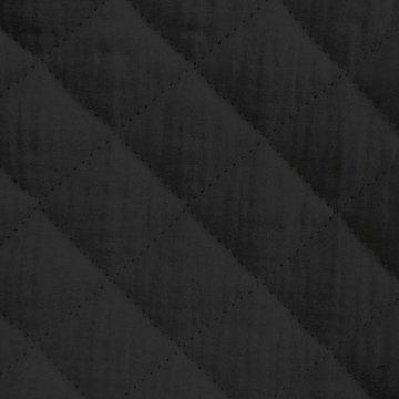 Matelassé gauze - Zwart