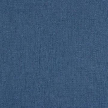 Coupon 70// Tetradoek gots - Jeansblauw 35