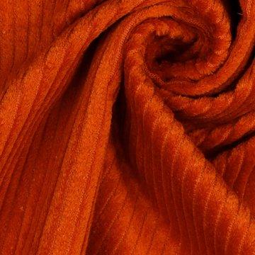 Ribfluweel - Dikke ribbel oranje