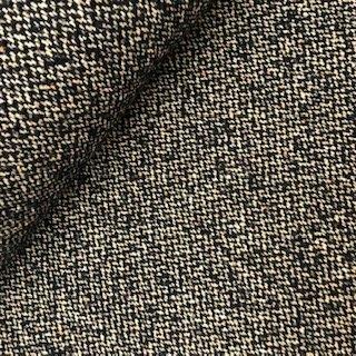 Mantelstof - Tweed Donkerblauw beige