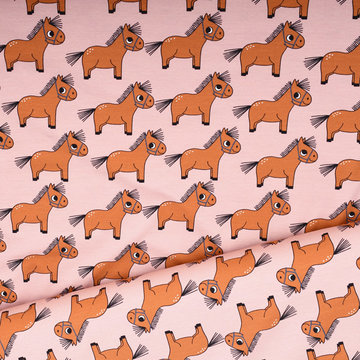 Jersey - Eva mouton pony roze