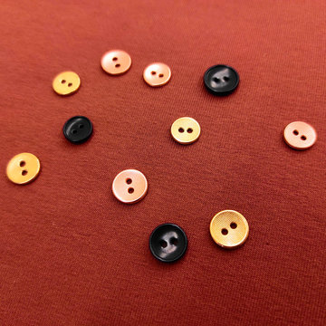 Knoop 11mm - Playtime Corozo zwart