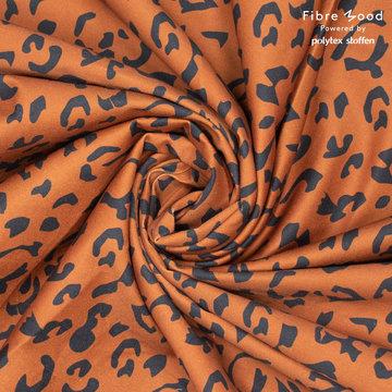Katoen fibremood - Roest met zwart leopard