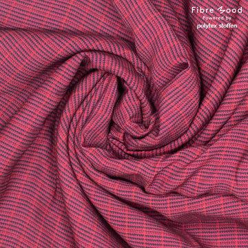 Viscose fibremood - Mini pied de poulle Paars roze