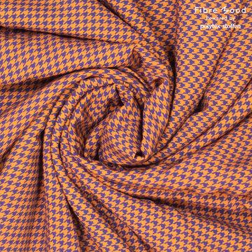 Viscose fibremood - Oranje paarse pied de poule