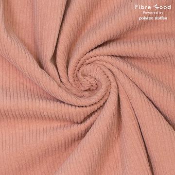 Ribfluweel fibremood - Lichtzalmroze betty