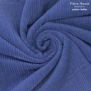 Ribfluweel fibremood - Donkerblauw betty