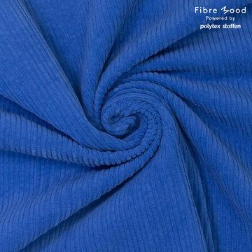 Ribfluweel fibremood - Koningsblauw doris