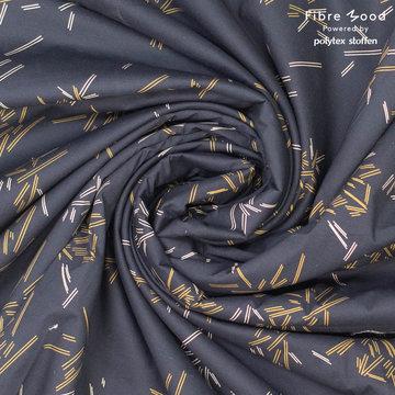 Katoen fibremood - Zwart met streepjes geel