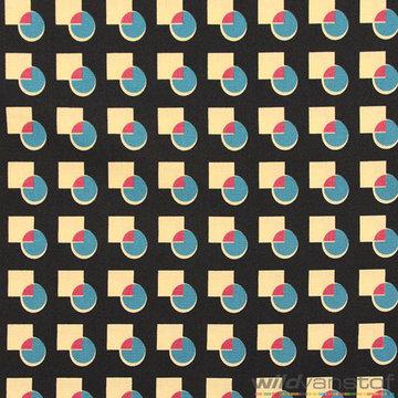 Blauw-paars bol in vierkant