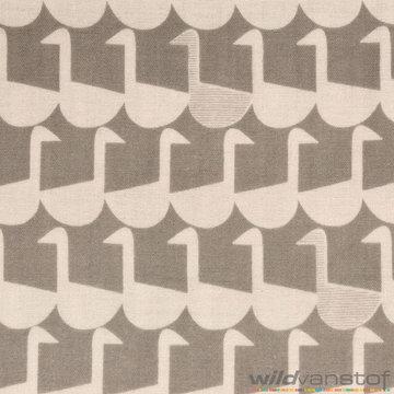 Double gauze - Stencil vogel op grijs