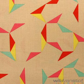 Abstracte driehoeken op beige