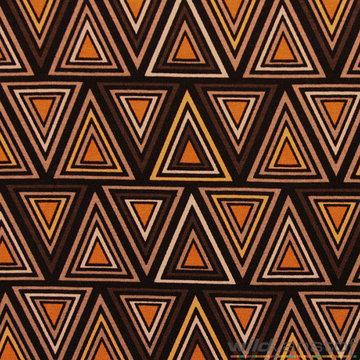 Bruine driehoeken oker