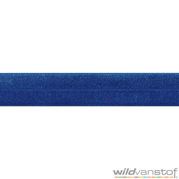 Stretch biaisband - koningsblauw 011