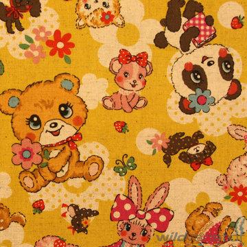 Canvas - Kokka knuffels geel