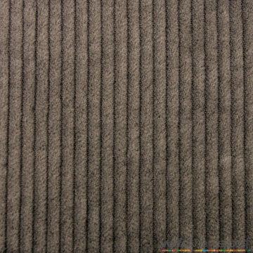 Ribfluweel breed grijs
