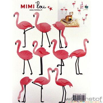 Muursticker flamingo's