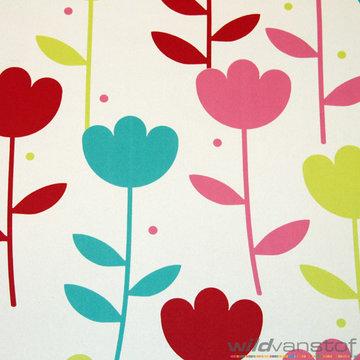 Verduistering kleurrijke bloemen