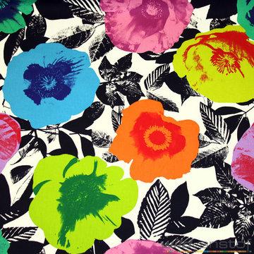 Canvas - Grote kleurrijke klaprozen