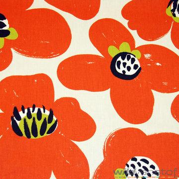 Canvas - Grote oranje bloemen