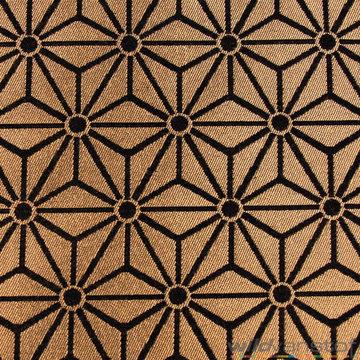Geometrische sterren goud-zwart