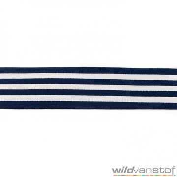 Donkerblauwe strepen elastiek