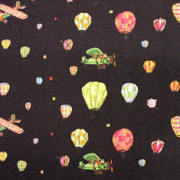 Luchtballonnenstad donkerblauw