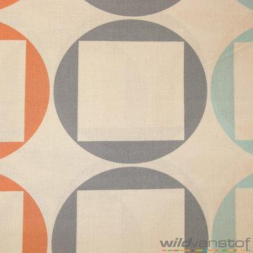 Lakenstof 255cm - Vierkant in cirkel