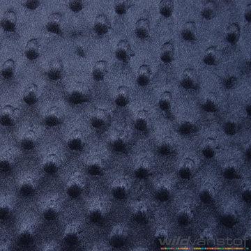 Minky fleece donkerblauw