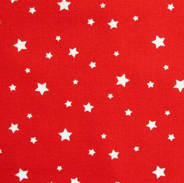Witte sterren op rood