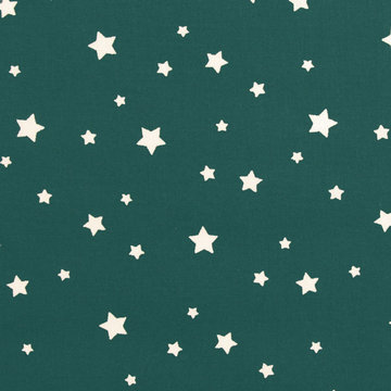 Witte sterren op petrol groen