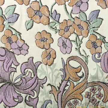 Bloemenslinger pastel op grijs