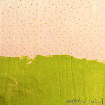 Gouden kotjes op groen-roze