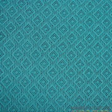 Gebreid - Ruiten azuurblauw