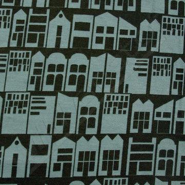 Huizen op zwart