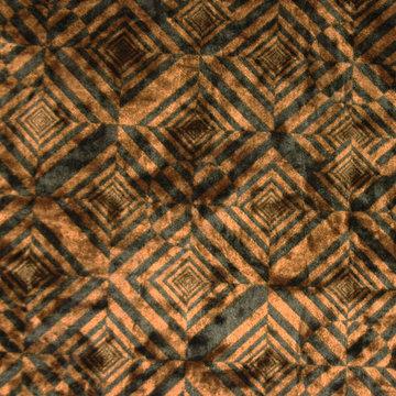 Fluweel - Vierkanten bruin