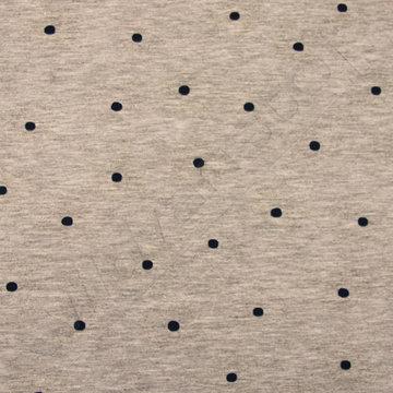 Jersey blauwe stip op grijs (UV-licht print)