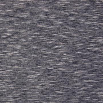 Jersey melange streep blauw