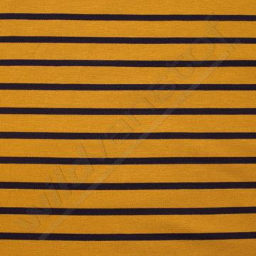 Jersey strepen oker-blauw