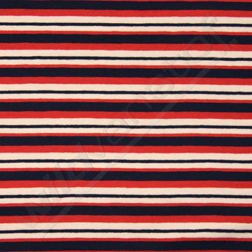 Jersey marine strepen rood-blauw