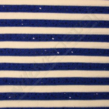 Blauw-wit gestreept met pailletten
