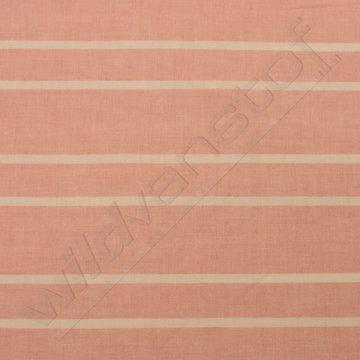 Linnen - Strepen roze-wit