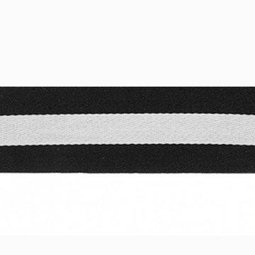 Lint strepen zwart-wit