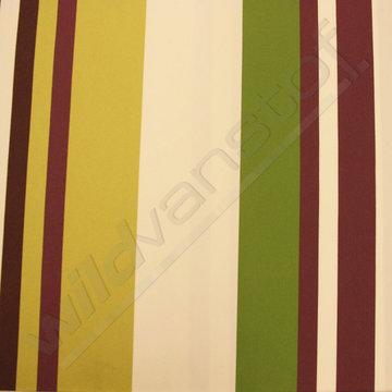 Strepen Groen-wit-paars-bruin