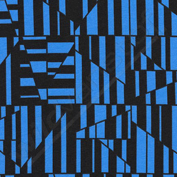 Fantasiestrepen zwart-blauw