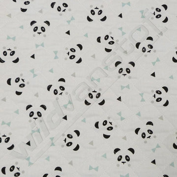 Matelassé panda groen
