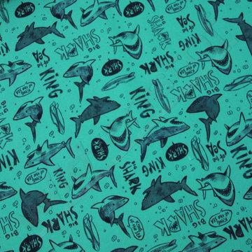 Zwemshortstof haaien