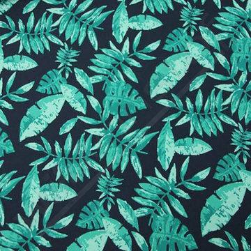 Zwemshortstof bladeren